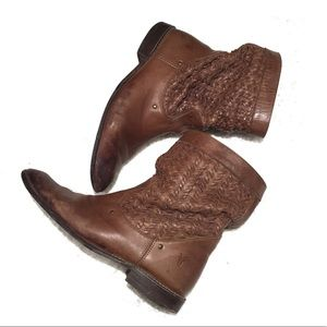 Frye's Brown Shirley western riding boot 77906